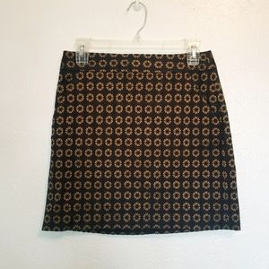 LOFT daisy print mini skirt w pockets size 2